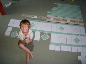 tile patterns & a cute monkey