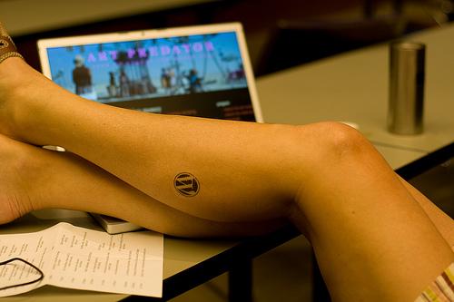 WordPress Temporary Tattoo