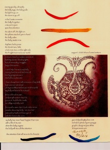ballad of my belly ARTLIFE broadside