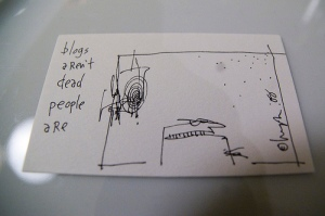 cartoon by Hugh McLeod of Gaping Void