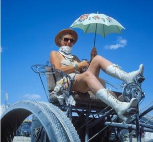 Woman on Quadracycle by Ed Hoffman