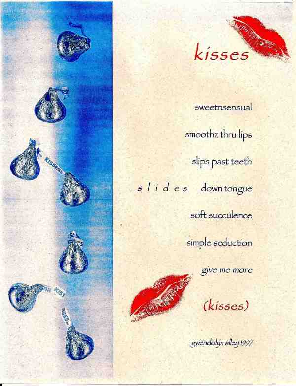 Kisses published in ArtLife by Gwendolyn Alley
