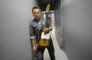 Bruce Springsteen backstage in the Asbury Park Convention Hall by Wally Skalij from the LA Times April 5, 2009