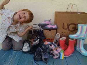new & old Uggs Simple teva kids shoes by Art Predator