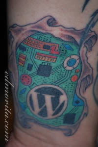 wordpress-tattoo Ed Morita of Bakers Hour blog