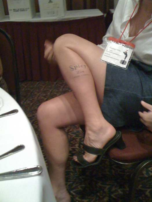 wine » Art Predator Sports a Spicy Zin Tattoo; photo by John Corcoran