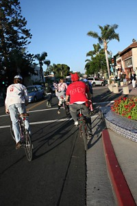 Fossil Fuel Free Riders July 2009 Main Street Ventura by Mark Matthews