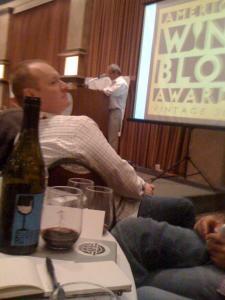 WBC 09 American Wine Blog Awards; Tom Wark presenting