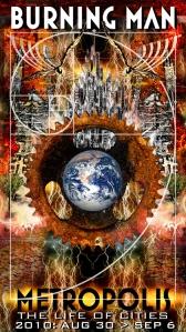 2010 Burning Man theme: Metropolis poster