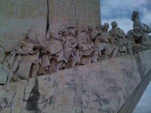 Portuguese explorers statue near Belem