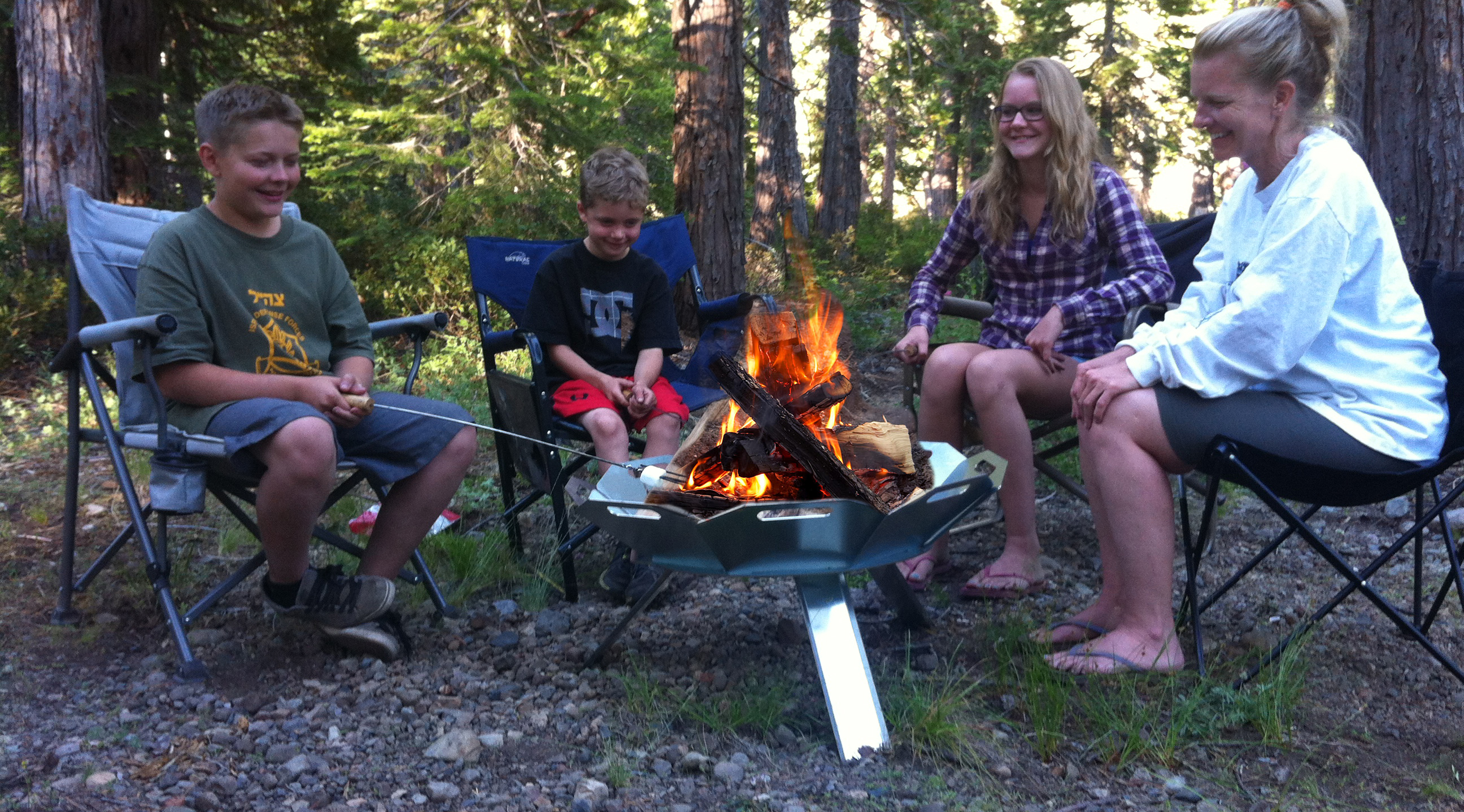portable fire pit perfect for burning man backyard or camping