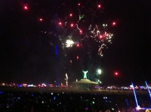 Burning Man fireworks