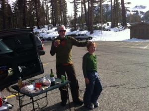 Thanks giving Tail gate party Mill parking Lot Mammoth, CA