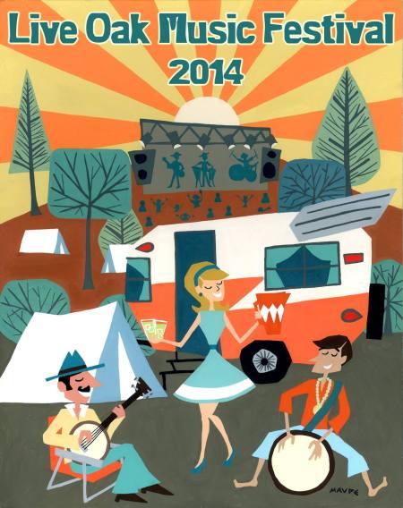 Live Oak Music Fest Poster 2014