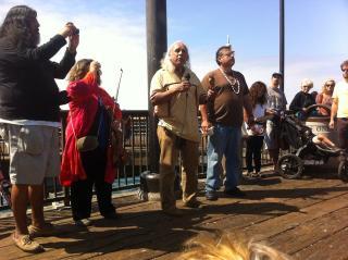 Chumash leaders led us in prayer