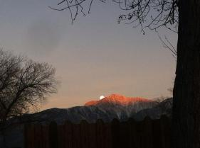 Wolf Moon rising over Boundary Peak, NV