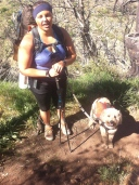 PCT Class of 2015 Section Hiker and her dog