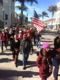 at the corner of Oak and Main, Ventura where between 4-5K people participated in a Justice March and protest