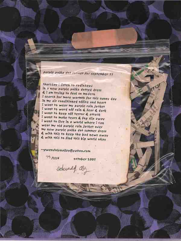 poem by Gwendolyn Alley as published in the October 2001 edition of ArtLife Limited Edition Magazine